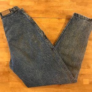 Vintage 80s High Waisted Mom Jeans - Lee Stonewash